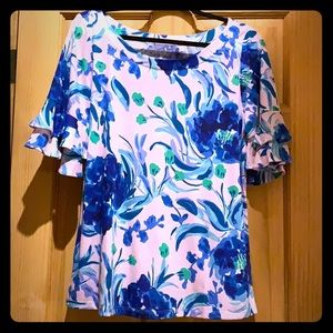 Lilly Pulitzer Lula Top, Sweet pea